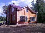 Дом с мансардным этажом из клееного бруса т.160 мм ,размером 10*8