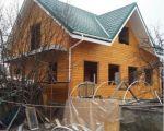 Дом из клееного бруса т.160мм ,размером 9,83*8,57(по краям)+фронтон из бруса г.Остров